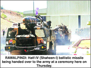 Hatf-IV handed over to army - Newspaper - DAWN COM