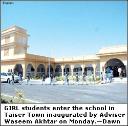 KARACHI: Schools in Taiser Town inaugurated - Newspaper