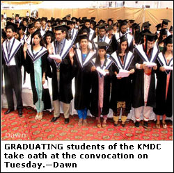 KARACHI: 390 receive MBBS, BDS degrees: KMDC seats doubled