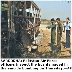 Seven PAF officers among 11 dead in suicide attack - Newspaper