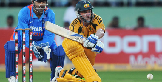 Michael Hussey, Australia in India, India cricket