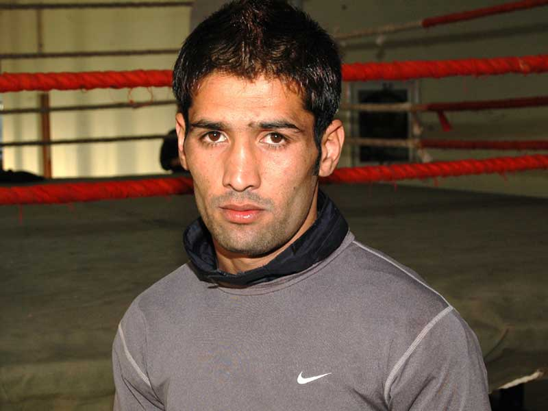 Muhammad Waseem (49kg)<br /> <strong>DOB:</strong> 29/08/1987, Quetta<br /> <strong>How it all started:</strong> I started boxing at the age of seven from the Boxing Club of Pakistan.<br /> <strong>Training and diet:</strong> I usually train 4 hours a day but have been working overtime in preparations for the 2010 Asian Games. I have to be particularly careful in my weight category and so my diet is mostly made up of eggs, cereals, milk and fruit.<br /> <strong>Favourite boxer:</strong> Mike Tyson<br /> <strong>Tou