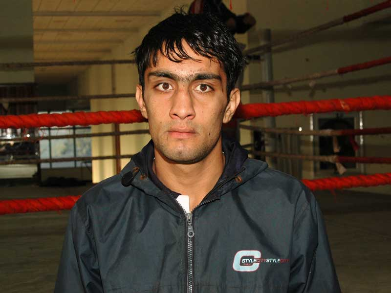 Niamatullah (56kg)<br /> <strong>DOB:</strong> 01/04/89, Quetta<br /> <strong>How it all started:</strong> I started when I was about 14 or 15 years old. My first club was the Hamdard Boxing Club.<br /> <strong>Training and diet:</strong> I usually train for about 5-6 hours a day and my diet is made up of eggs, bread and lots of meat.<br /> <strong>Favourite boxer:</strong> Ahmed Ali<br /> (Pakistan) and Prince Naseem Hamid<br /> <strong>Toughest opponent:</strong> Muhammad Nadim Hossain (Bangladesh)<br /> <strong>