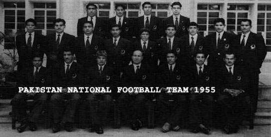 The 1955 Pakistan football team.