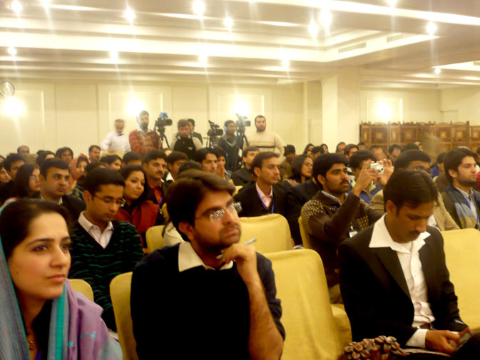 A large number of students and journalists were present in the audience at the launch of ?Through the Gender lens? on Monday, December 10, 2010 in Islamabad.
