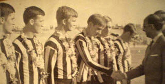 North American Soccer League side Dallas Tornado stopped in Pakistan for two matches during their worldwide tour in 1967. —File