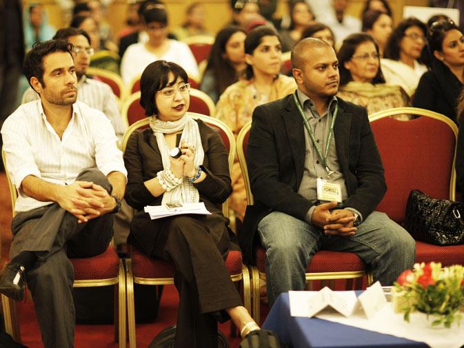 CAP board members (L-R) Ali Raza, Amber Rauf and Fahad Asadullah.
