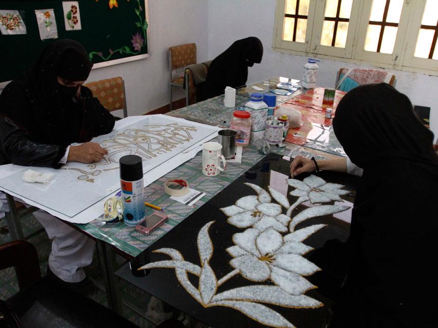 In this image taken on Dec. 1, 2010 girls attend vocational school in  Mingora. ? AP