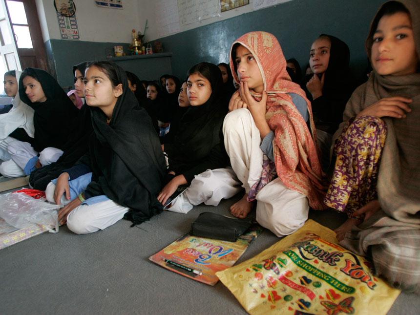 In this image taken on Dec. 1, 2010 girls attend school in  Mingora. ? AP