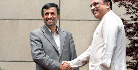 Zardari, Ahmadinejad