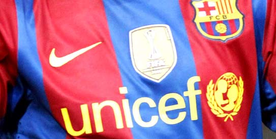 Barcelona To Drop Unicef Logo From Shirt Front Sport Dawn Com