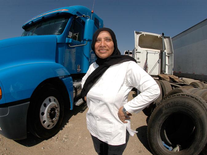 Asma Azim, Truck Driver