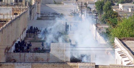 police break up jail riot  seven inmates dead
