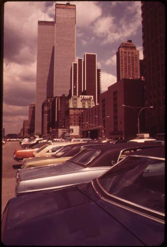In this May 1973 photo, the newly-built World Trade Center rises above lower Manhattan in New York.