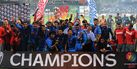 India have the major chunk of One-day Internationals with the World Cup 2011 winners getting 166 such matches in the new FTP.-AFP Photo