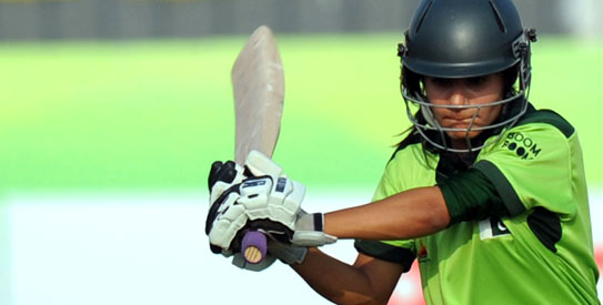 Javeria Khan capped an impressive series performance with an unbeaten 47 in the last ODI. —Photo by AFP