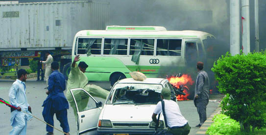 File: Karachi was under siege as violence reigned supreme on May 12, 2007. At the end of the day, 34 people were dead and hundreds injured.— AP Photo