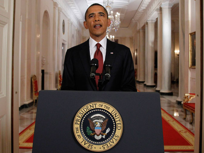 US President Barack Obama is pictured after announcing live on television the death of Osama bin Laden, from the East Room of the White House in Washington May 1, 2011. Al Qaeda leader Osama bin Laden was killed on Sunday in a firefight with US forces in Pakistan and his body was recovered, Obama announced on Sunday. ? Reuters (File Photo)