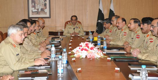 The meeting — chaired by the Army chief and attended by all Corps Commanders and Pricipal Staff officers — was called to discuss key issues of importance and urgency, including matters related to national security and the regional peace. — File Photo