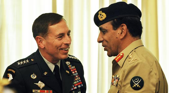 """According to a confidential cable dated January 24, 2009, army chief Gen Ashfaq Parvez Kayani """"spoke candidly"""" to US CENTCOM Commander Gen David Petraeus about the US funding for anti-militancy operations in the tribal areas- Photo by AFP"""