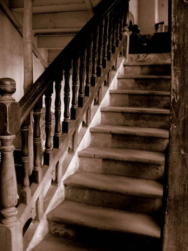 A stair case at the lodge. - Photo by Shahzaib Arif