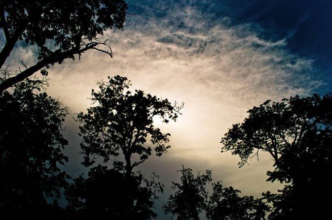 Sunset in Bhit Shah. - Photo by Mustafa Sheikh