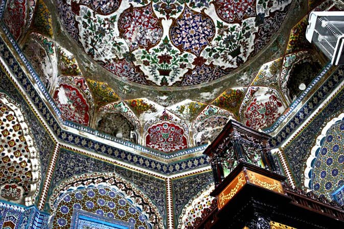 Ceiling of the shrine. - Photo by Mariam Iqbal