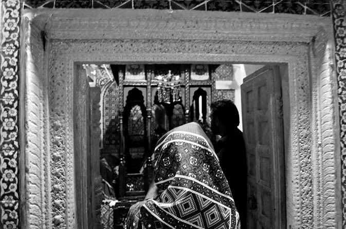 Entrance to Abdul Latif Bhittai's grave. - Photo by Mustafa Sheikh
