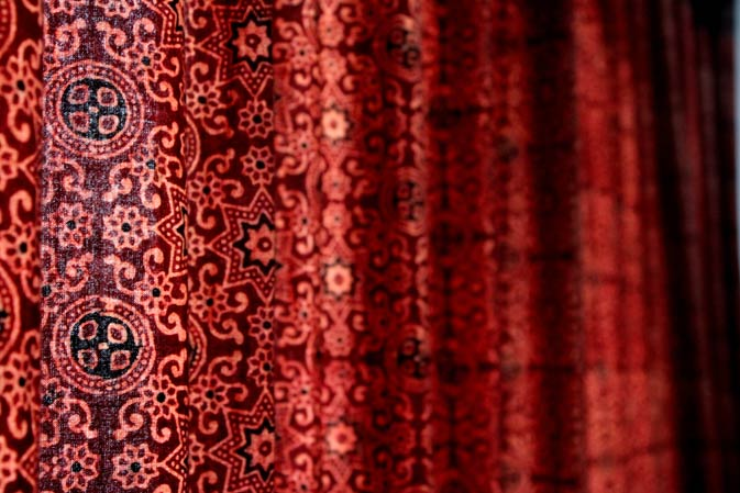 An ajrak making center. - Photo by Mariam Iqbal