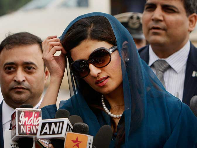 Khar said that she hopes dialogue would achieve a breakthrough in Pak-India relations. With all due respect, Ms. Khar, it remains OUR job to hope and YOUR job to be a part of the process that makes it happen. To top it off, ?Pakistan and India can move forward,? she said. And what a revelation that was! ? AFP photo