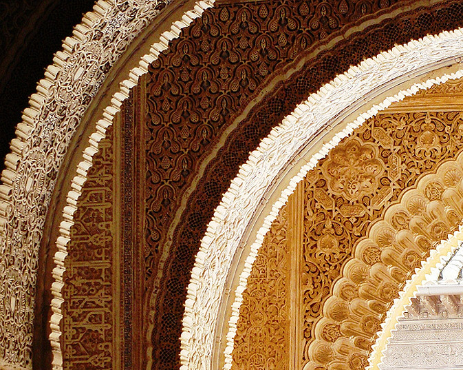 If Islamic architecture is to be distinguished by one thing only, it would be the arches. And in Alhamra there are plenty. One after another – a never ending sequence – of all sizes, adorned with ever-changing patterns but never seeming sudden or out of place – always in synch with each other. A continuous bliss of arches! Walking through these one tends to lose any sense of direction and time.