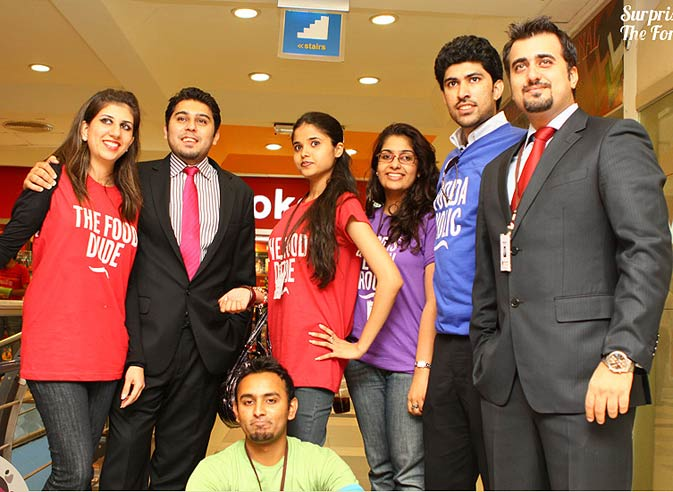 Members of the FCP team pose for the camera after a promotional activity at the Forum.
