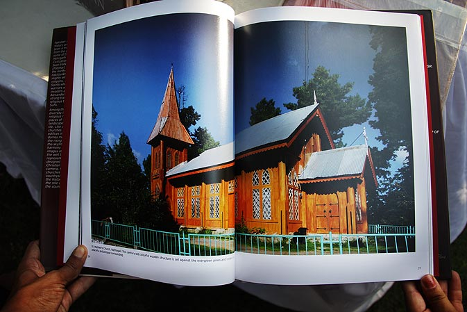 A church in Nathia Gali is displayed in this photograph of the book.