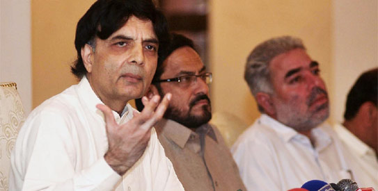 Chaudhry Nisar admits his wife, children are US citizens
