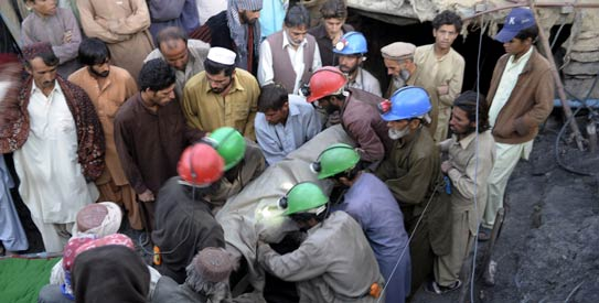 Gas explosion kills five coal-mine-workers in Mastung