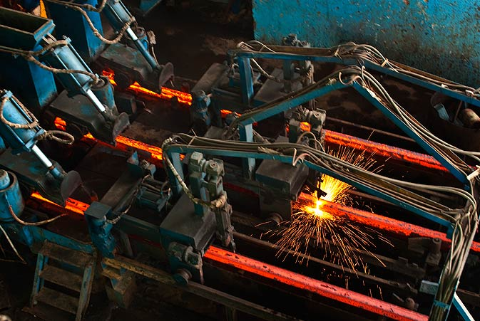 Billets are classified as semi-finished products. They are further processed via rolling and drawing. Final products include reinforcement bars (deformed bars or 'sirya?), wire rod, angles, girders and shafts.