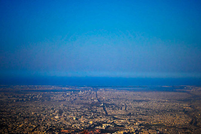 Karachi city as seen from above - Photo by Humayun M | 18% grey
