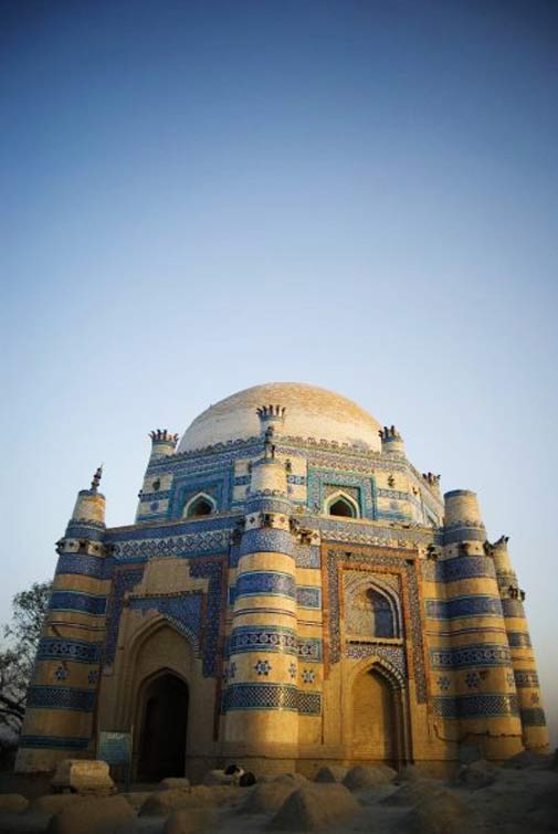 The Shrine of Bibi Jiwani at Uch Sharif.  - Photo by Humayun M | 18% grey