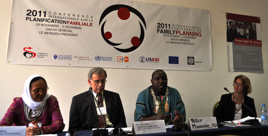 Panellists at the International Family Planning Conference 2011 in Dakar, Senegal. –Photo by author