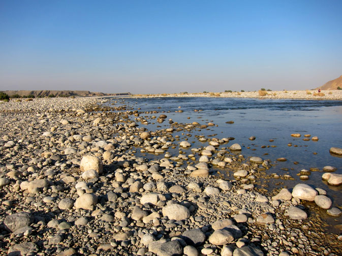 Mula also offered what I did not expect to see in the middle of an arid terrain: a riverine of crystal clear water without no apparent source. I have since learned that this is a frequent sight in Balochistan. -Photo by Taimur Sikander