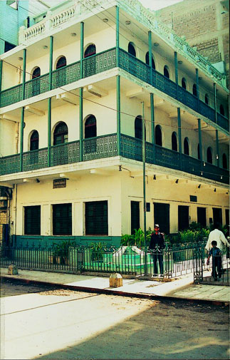 Wazir Mansion, birthplace of Quaid-e-Azam Muhammad Ali Jinnah located at Kharadar, Karachi.