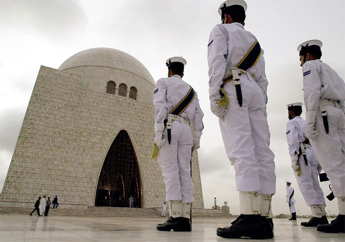 Quaid-e-Azam's Mausoleum in Karachi, Pakistan.  Jinnah worked until his last breath and finally succumbed to diseases and age on September 11, 1948.  He was a true leader which is why he is still regarded as one of the best nationalist and political influencers, who reshaped the map of the world.