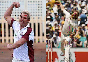 Shane Warne gets much more front-on and also avoids the extravagant momentum shifts to display one of the most graceful bowling actions .