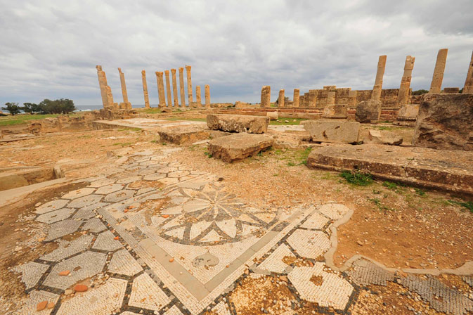 A part of the ancient city of Ptolemais is pictured near the town of Ad Dirsiyah, about 100 km (62 miles) east of Benghazi January 27, 2012.