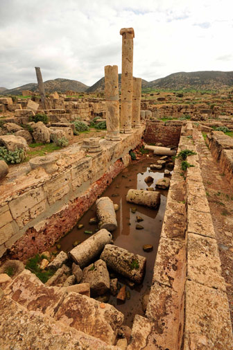 The ancient city, founded approximately in 700 B.C, gained its name during the rule of the Ptolemaic empire. It later became one of the capitals of the ancient Roman province of Creta et Cyrenaica, which today makes up the eastern coastal region of Libya.