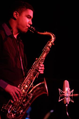Panama's saxophonist Jahaziel Arrocha performs during the 9th Panama Jazz Festival in Panama City, Monday, January 16, 2012. - AP Photo