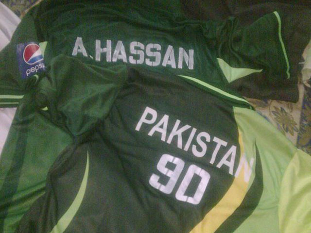 My Pakistan jersey with Amir's name and number.