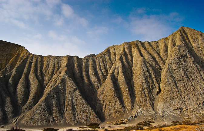 A view of mud mountains at the Hingol national park