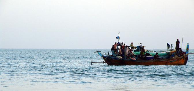 Fishermen's boat at Kund Malir.