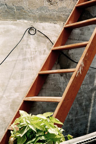?This is the ladder in my house. Climbing it is like torture for me. When it was hot, we would go up to the roof. But now, no matter how hot it is, I have to stay down. I can?t climb up. If I do climb up, it takes me almost an hour or so, and in that time the electricity comes back on. Instead of undergoing this torture, it is better for me to just stay down. The fact is, whatever happens, one must continue living. When you are faced with difficulties, you should keep fighting.?  ? Tasleem Anwar, 36-year-old male,